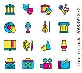 set of arts icons. vector... | Shutterstock .eps vector #698392372