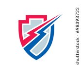 power protection   vector logo...   Shutterstock .eps vector #698393722