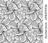 vector abstract black and white ... | Shutterstock .eps vector #698395936