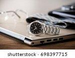 men's accessories  closeup at...   Shutterstock . vector #698397715