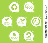 eco friendly emblem. bio... | Shutterstock .eps vector #69840367