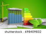 3d illustration of building... | Shutterstock . vector #698409832
