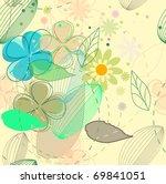 vector flower seamless... | Shutterstock .eps vector #69841051