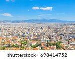 view of athens  greece as seen... | Shutterstock . vector #698414752
