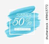 summer sale 50  off sign over... | Shutterstock .eps vector #698415772
