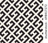 vector seamless pattern. modern ... | Shutterstock .eps vector #698417272