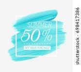 summer sale 50  off sign over... | Shutterstock .eps vector #698417386