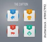 icon zoology set of swine ... | Shutterstock .eps vector #698417992