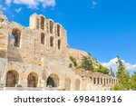 architectural detail of odeon... | Shutterstock . vector #698418916