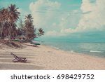 coconut palm tree on the summer ... | Shutterstock . vector #698429752