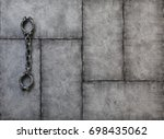 shackles  slave chains on a... | Shutterstock . vector #698435062