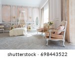 luxurious expensive interior... | Shutterstock . vector #698443522