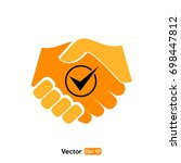 business handshake icon | Shutterstock .eps vector #698447812