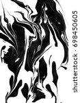 marble. black white paint... | Shutterstock . vector #698450605
