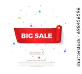 vector big sale banner with... | Shutterstock .eps vector #698456596