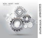cogwheel vector  cog wheels ... | Shutterstock .eps vector #698459995