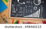 digital composite of math... | Shutterstock . vector #698460115