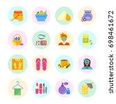set vector illustration of... | Shutterstock .eps vector #698461672