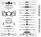 set of design elements | Shutterstock .eps vector #69846367