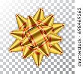 gold bow ribbon decor element... | Shutterstock .eps vector #698469262