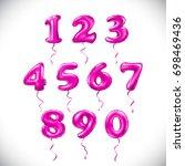 vector pink number 1  2  3  4 ... | Shutterstock .eps vector #698469436