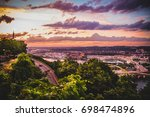 elevated view of city | Shutterstock . vector #698474896