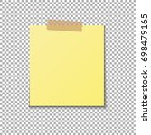 vector yellow sticky note | Shutterstock .eps vector #698479165