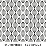 seamless black   white... | Shutterstock .eps vector #698484325