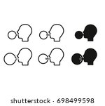icon vector of inflation the... | Shutterstock .eps vector #698499598