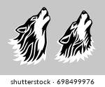 stylized tattoo vector... | Shutterstock .eps vector #698499976