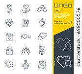 lineo editable stroke   love... | Shutterstock .eps vector #698500576