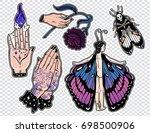 set of macabre  magic  eerie ... | Shutterstock .eps vector #698500906