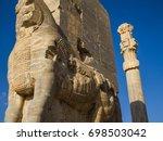 persepolis statues | Shutterstock . vector #698503042