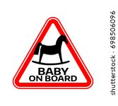 Baby On Board Sign With Child...
