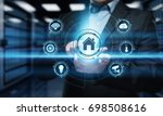 smart home automation control... | Shutterstock . vector #698508616