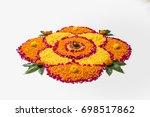 flower rangoli for diwali or... | Shutterstock . vector #698517862