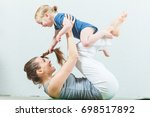 mom and child are practicing...   Shutterstock . vector #698517892