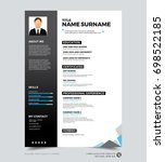 clean modern design template of ... | Shutterstock .eps vector #698522185