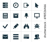 interface icons set. collection ... | Shutterstock .eps vector #698526466