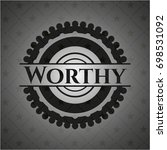 worthy dark badge | Shutterstock .eps vector #698531092