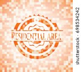 residential area orange mosaic... | Shutterstock .eps vector #698534242