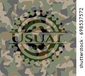 usual on camo pattern | Shutterstock .eps vector #698537572