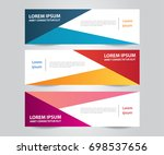 set of modern colorful banner... | Shutterstock .eps vector #698537656