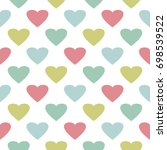 colorful hearts seamless... | Shutterstock .eps vector #698539522