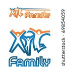 a family emblem  two variants... | Shutterstock .eps vector #69854059