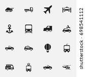 set of 16 editable shipment... | Shutterstock .eps vector #698541112