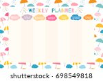 cute and colorful weekly... | Shutterstock .eps vector #698549818