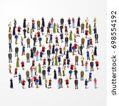 large group of people crowded... | Shutterstock .eps vector #698554192