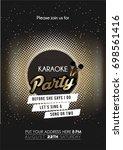 modern bachelorette karaoke...   Shutterstock .eps vector #698561416
