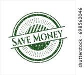 green save money distress... | Shutterstock .eps vector #698562046